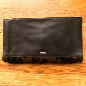 Brave Bags - Leather and Camo Animal Hair Clutch